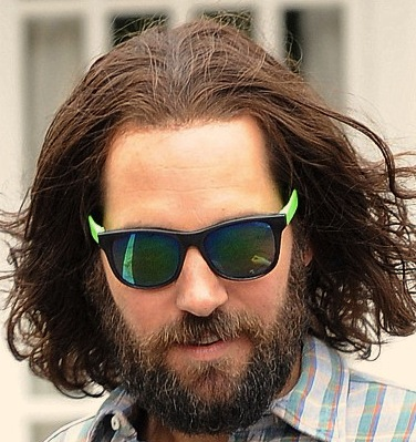 Paul Rudd Long Brown Hairstyle And Beard Glh